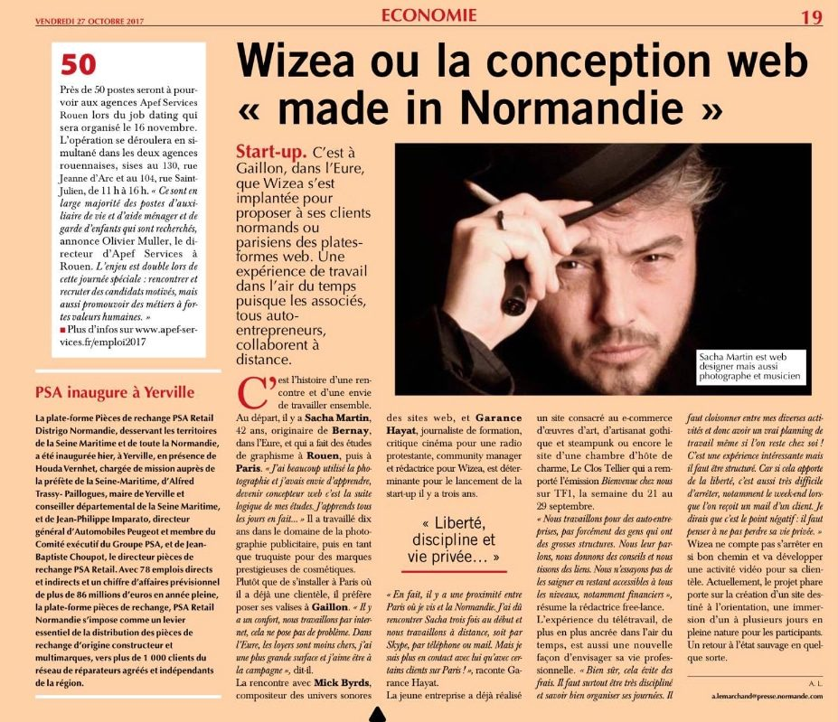 Paris Normandie article sur Wizea