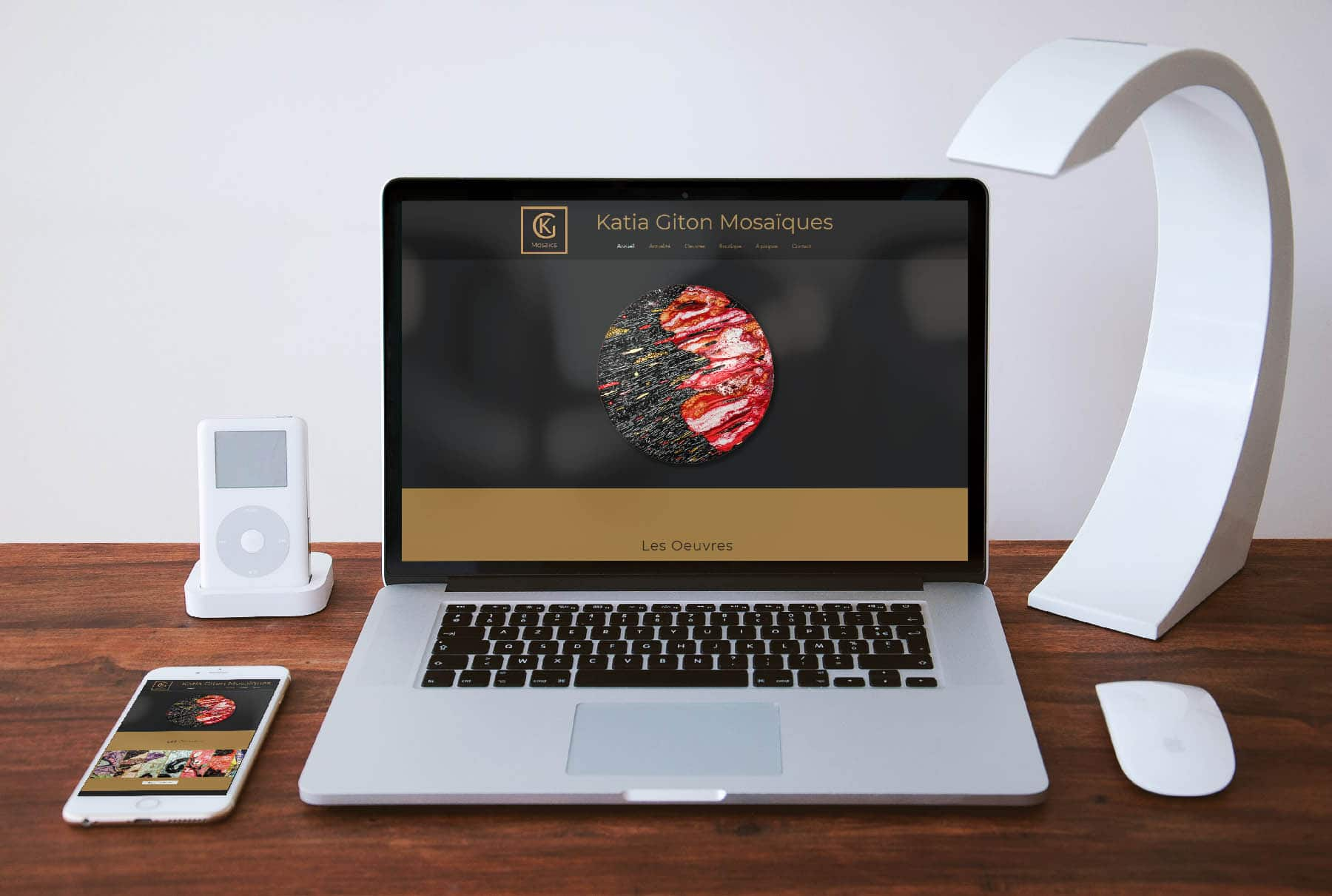 Site web sur pc mockup